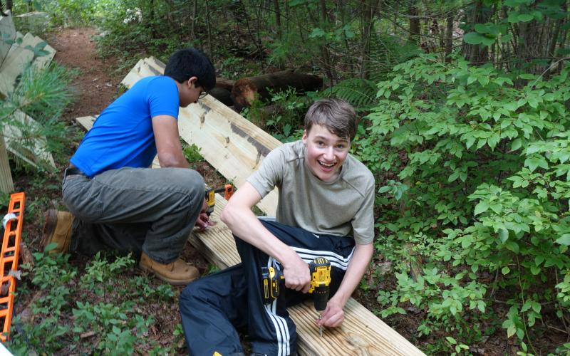 Will Hardwick completed his Eagle Project at Upper Mill Brook in Wayland.