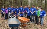 Sanofi-Genzyme employees volunteered with SVT during National Volunteer Week 2017.