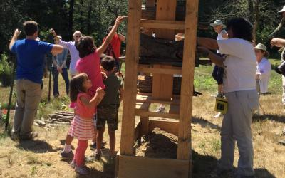 SVT Members Help Build Bee Hotel at our Pollinator Party.