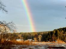 A rainbow in Lincoln, photographed by Harold McAleer.