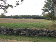 Mainstone Farm with Stone Wall, Wayland